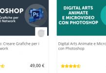 Adobe Photoshop corsi online in vendita
