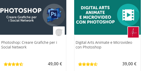 Adobe Photoshop corsi online in vendita