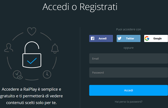 Come registrarsi a Rai Play