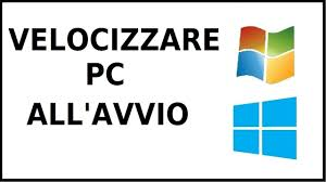 Come velocizzare avvio windows 7