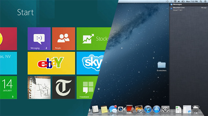 Mac OS X Lion su Windows 7