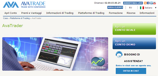 Avatrade come aprire un conto demo