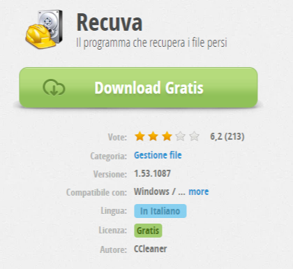 Recuva download free programma per recuperare file cancellati