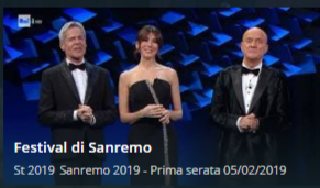 SanRemo 2019 streaming Prima serata