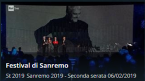 SanRemo 2019 streaming seconda serata