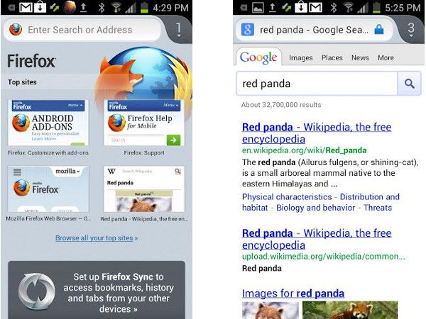 browser Firefox per android