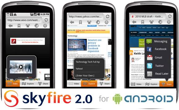 browser SkyFire per android